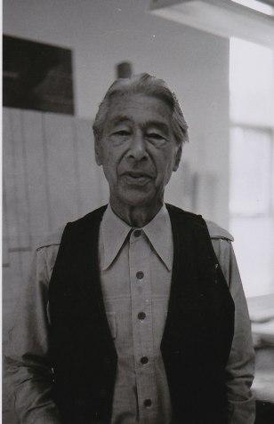 Herbert Bayer, 1981.  Photo by Janis Bultman.